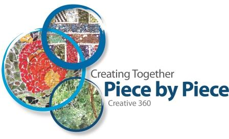 Creating together piece by piece logo