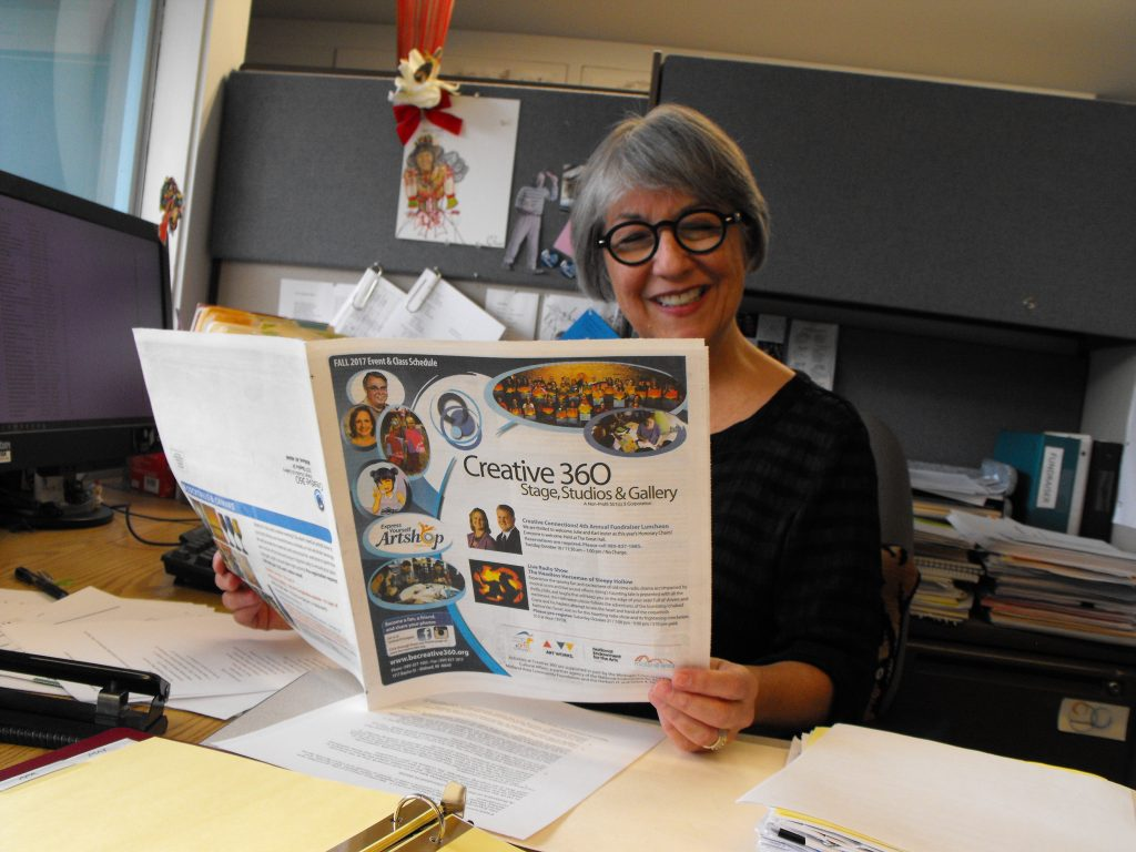 Executive Director Carol Rumba review the new schedule