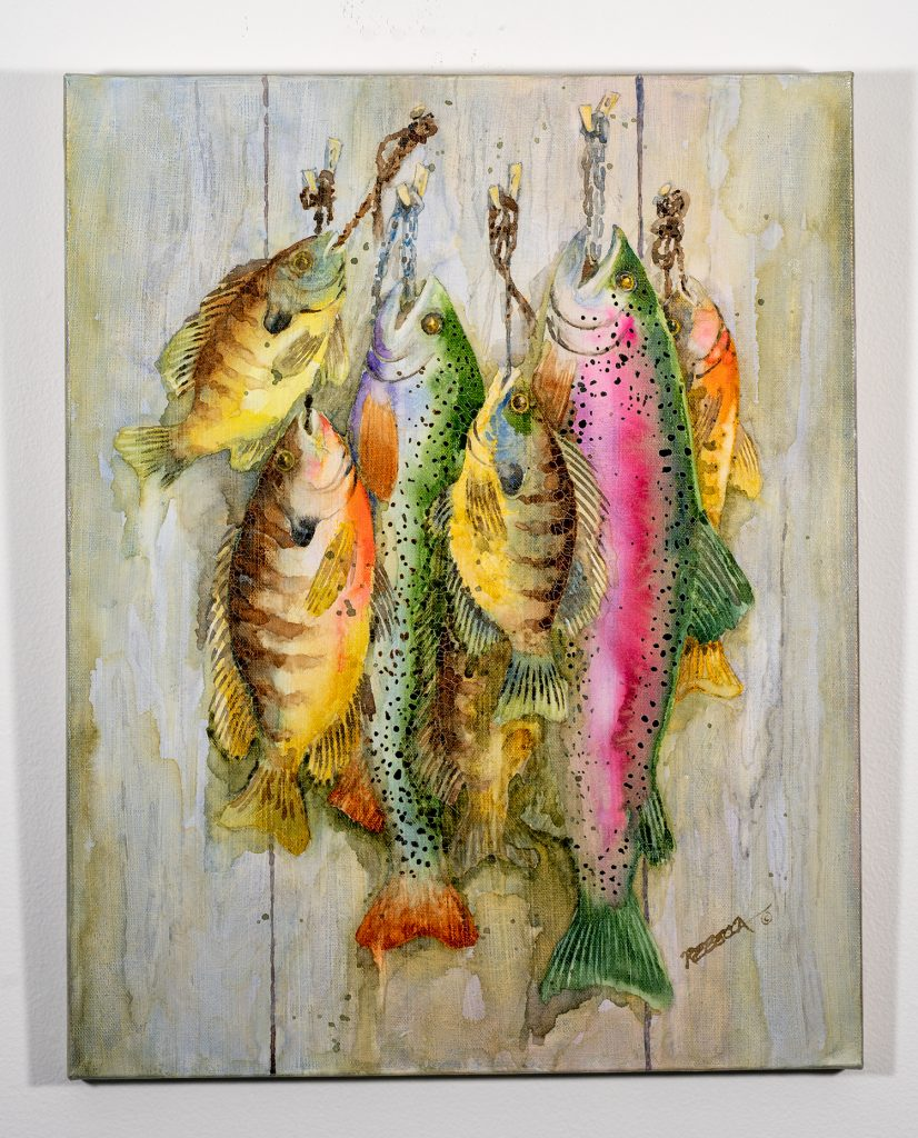 Award of Merit! Rebecca Houck - Rainbow Catch, Watercolor NFS