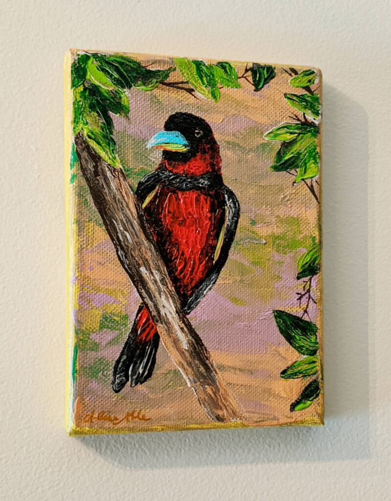 $30, 5x7 Palette Knife Painting On Canvas. Artist: Allise Noble