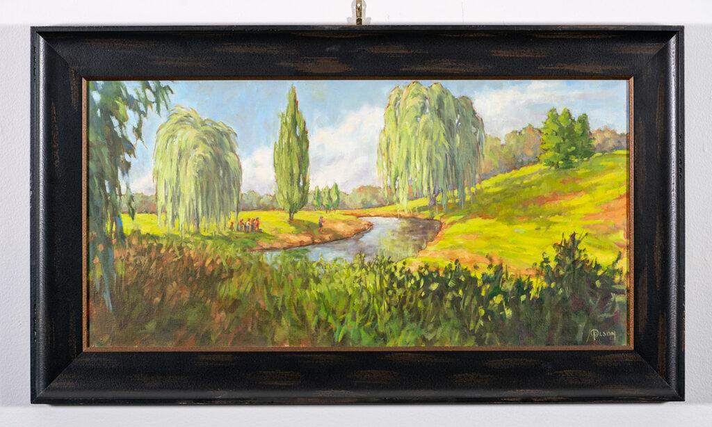 BEST IN SHOW - PRISCILLA OLSON - Family Picnic - Oil on Linen Panel - 16.5x28.25 - $1255