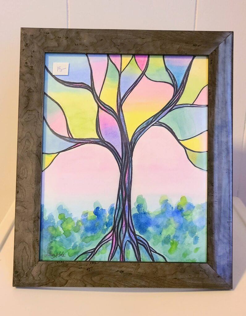 $15, Framed 8x10 Watercolor Painting. Artist: Allise Noble