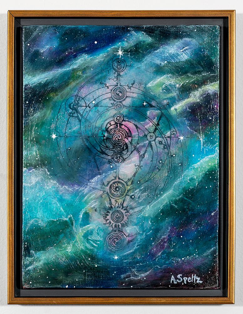 Ancient Cosmos (12 x 9 - acrylic on canvas), A. Speltz, NFS