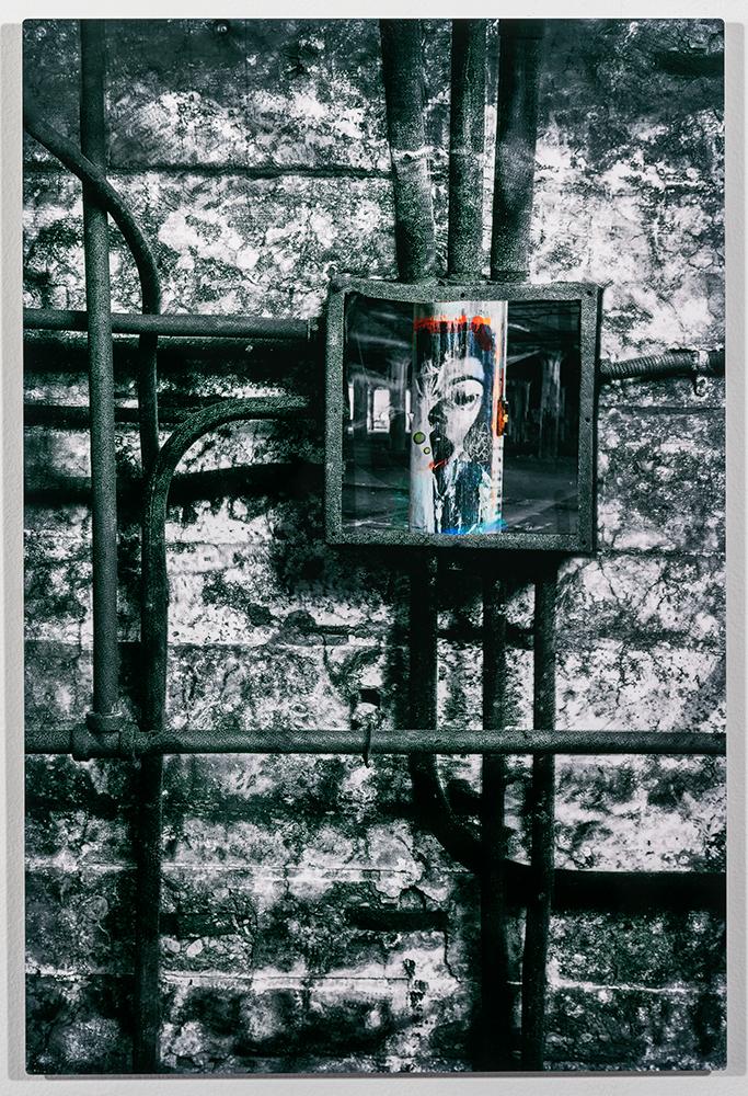 Conduit (16 x 24 - photo composite on metal) C. Jewell, $250