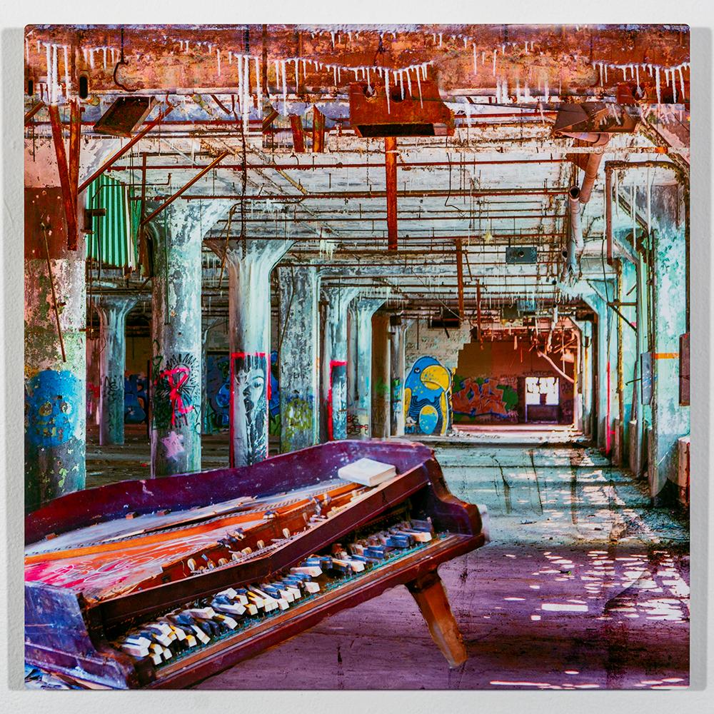 Detroit Abandon (16 x 16 - photo composite), C. Jewell, $200