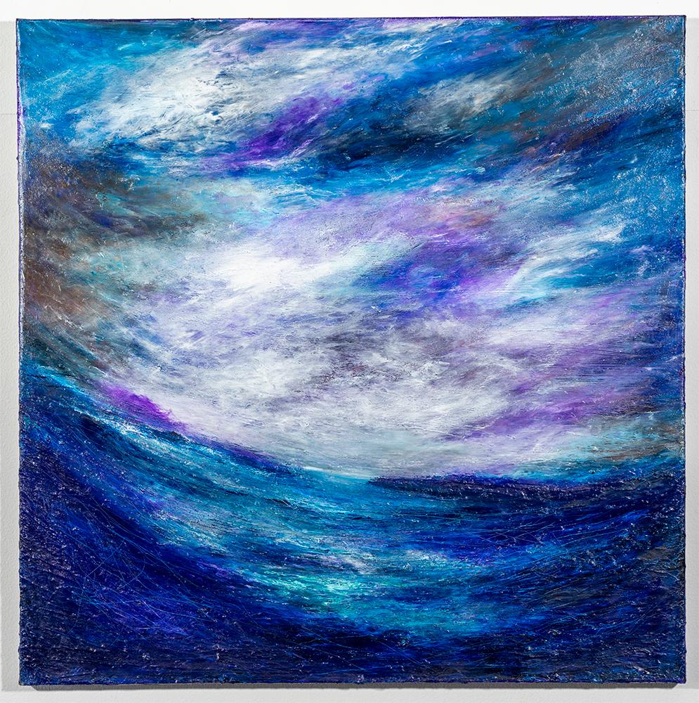 Distant Storms (30 x 30 - acrylic), C. Speltz, $350