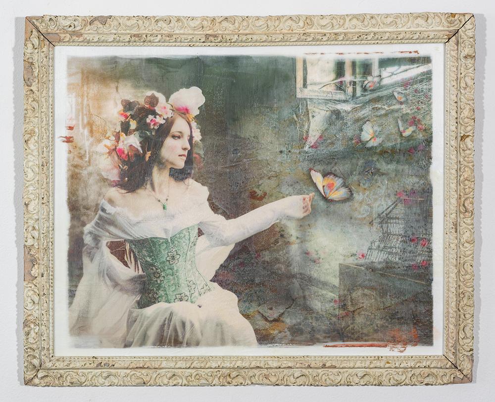 Escape (16 x 20 - photo encaustic), C. Jewell, $150