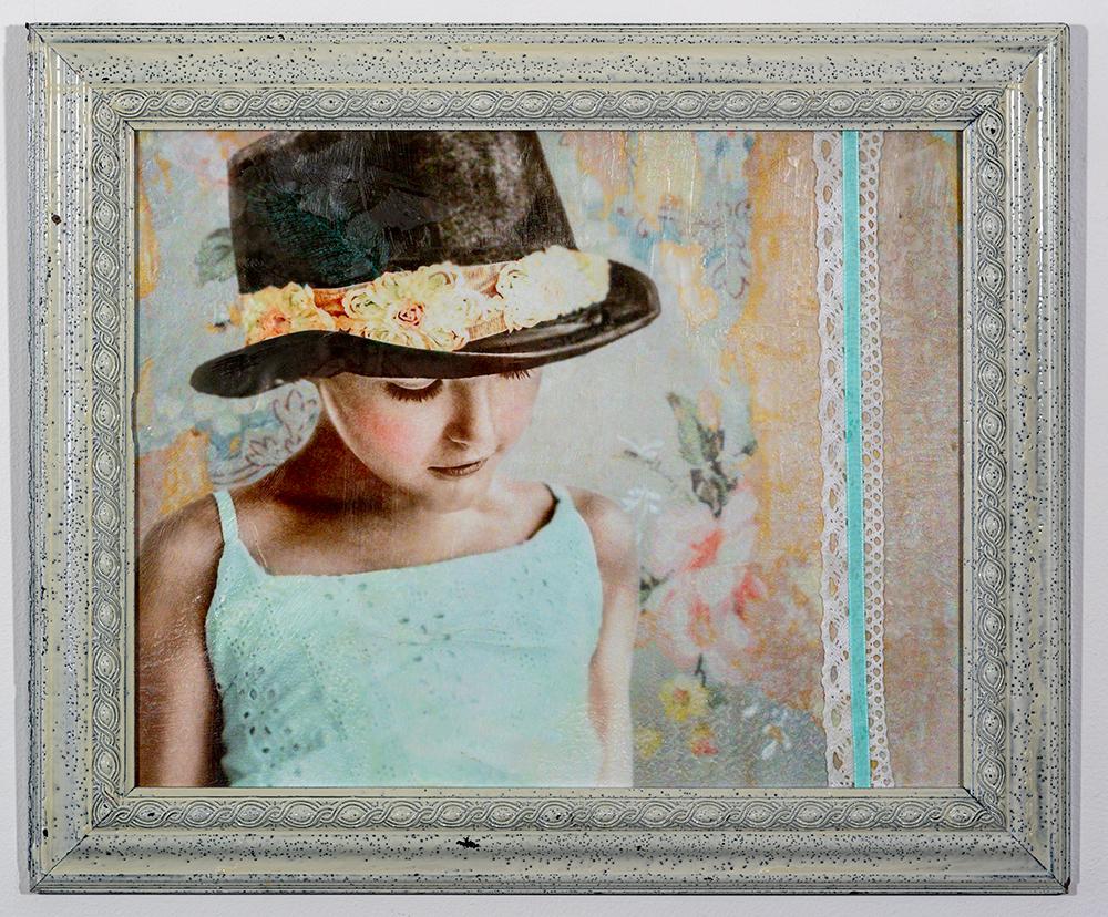 Innocence (8 x 10 - photo encaustic), C. Jewell, $100