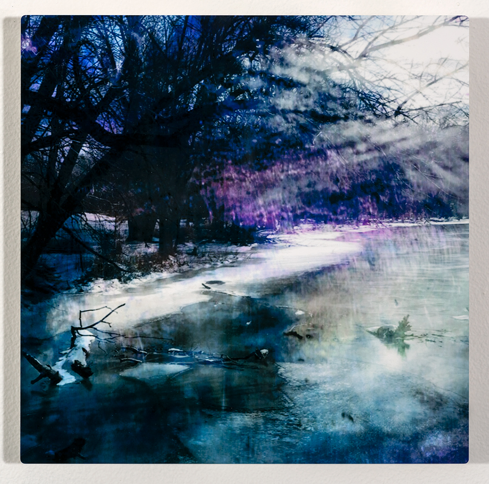 Kawkawlin River II (12 x 12 - Photography on metal), C. Speltz, $200