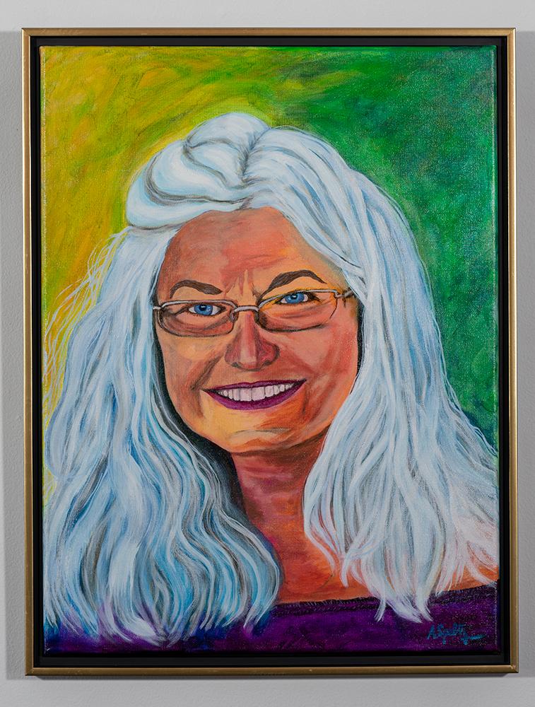 Portrait of Mom - Carol Speltz (24 x 18 - acrylic on canvas), A. Speltz, NFS