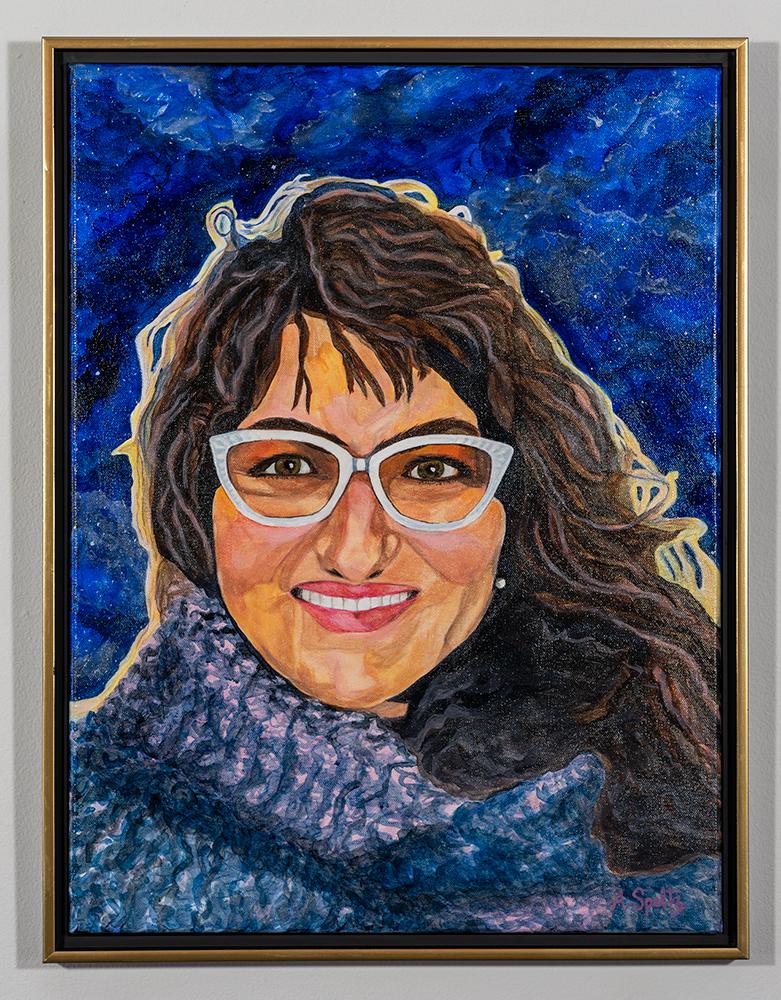 Self Portrait (24 x 18 - acrylic on canvas), A. Speltz, NFS
