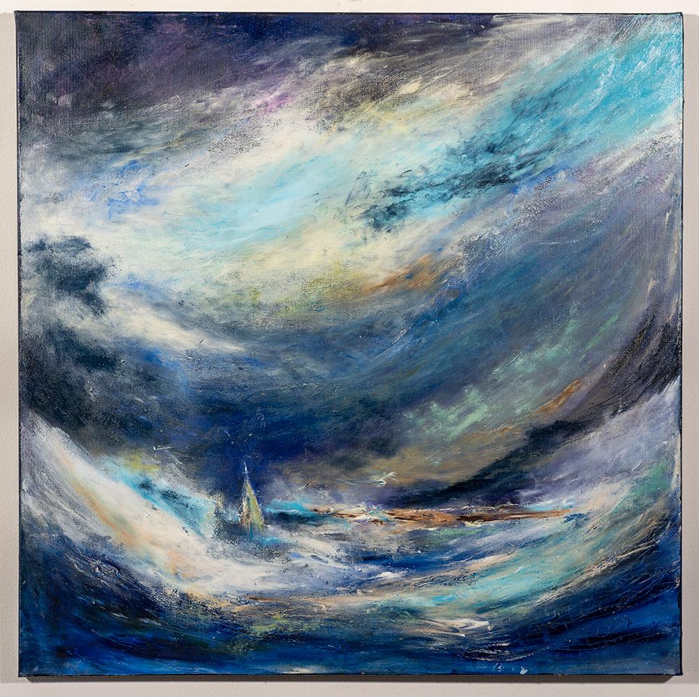The Storm (30 x 30, mixed media), C. Speltz, NFS