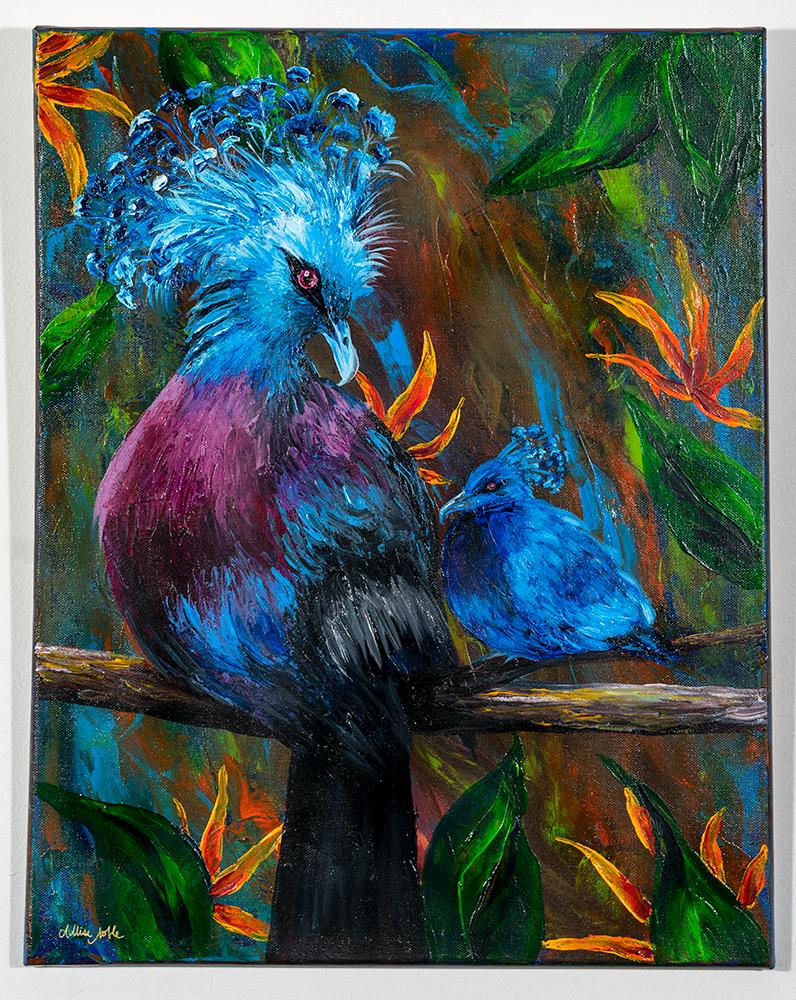 ALLISE NOBLE - 'Colors of Love' - Acrylic Pallet Knife - 20 x 16 - $275