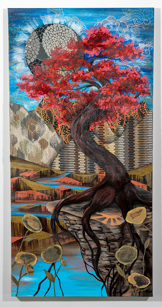 ALLISE NOBLE - 'Where the Light is Held' - Acrylic, Mixed Media - 48 x 24 - $800