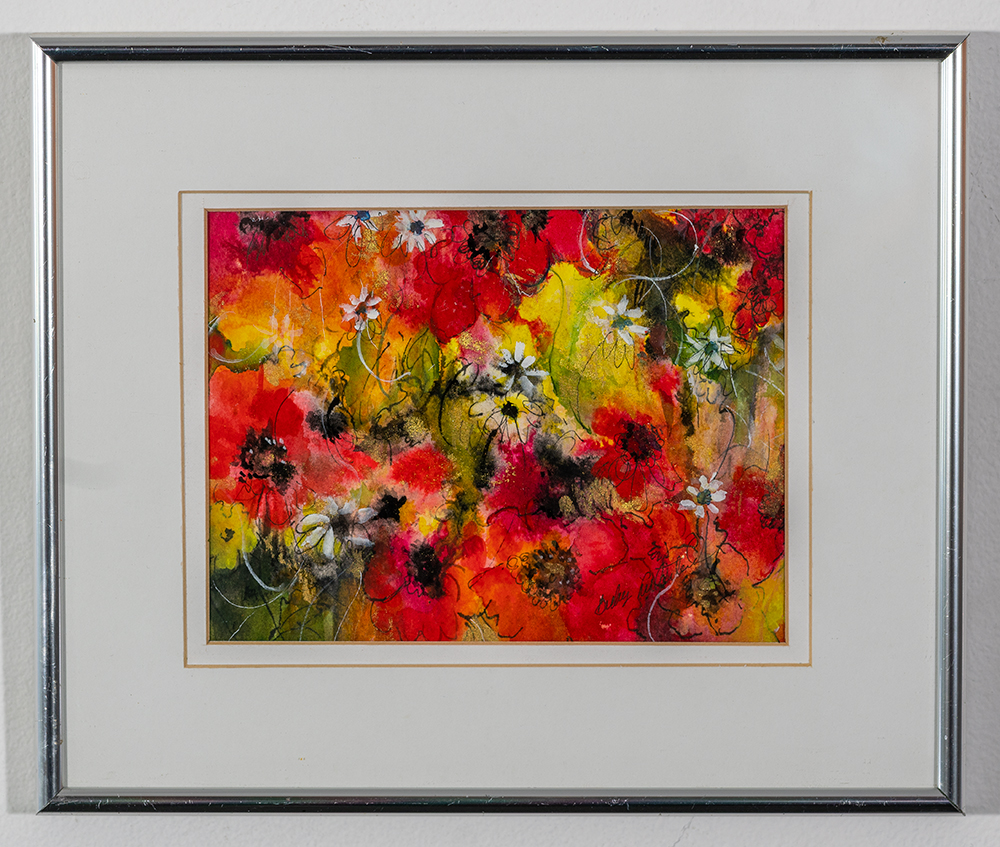 BECKY LITHERLAND - 'Blossoms in the Wind' - Watercolor - 10.5 x 12 - $75