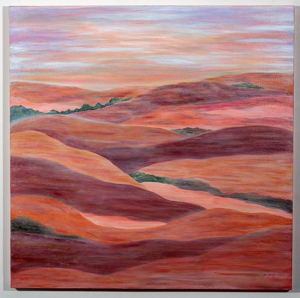 JAN YOUNG - 'Serenity' - Acrylic - 36 x 36 - $225