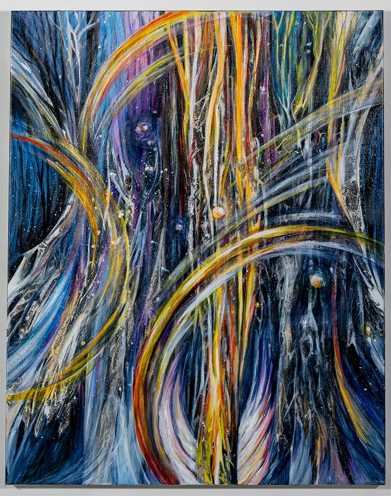 JANICE WEGNER - 'Mystic Chaos' - Acrylic, Mixed Media - 30 x 24 - NFS