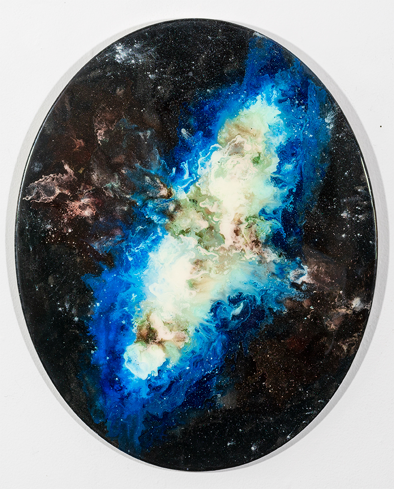 LAURIE SHOOTLZ - 'Starburst Galaxy' - Gel Stain - 20 x 16 - NFS