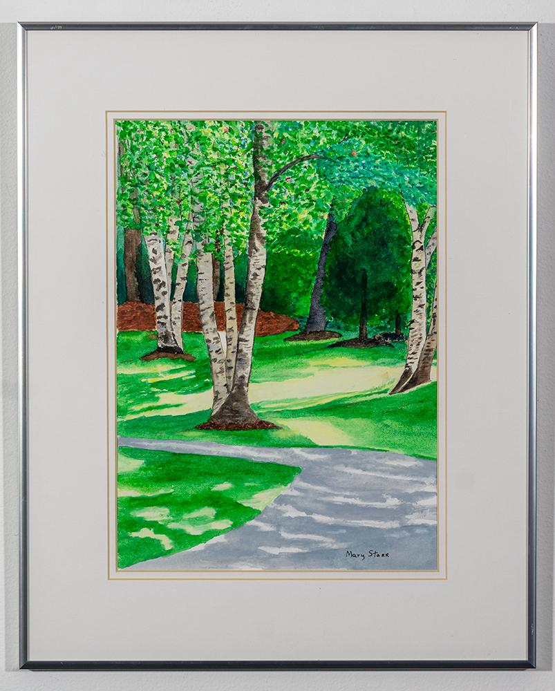 MARY STARR - 'Garden Entry' - Watercolor - 20 x 16 - $200