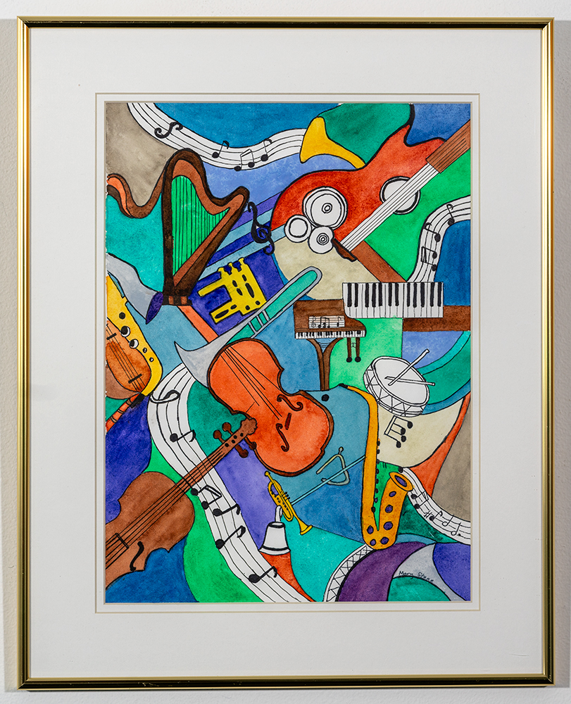 MARY STARR - 'Instruments' - Watercolor - 20 x 16 - $200