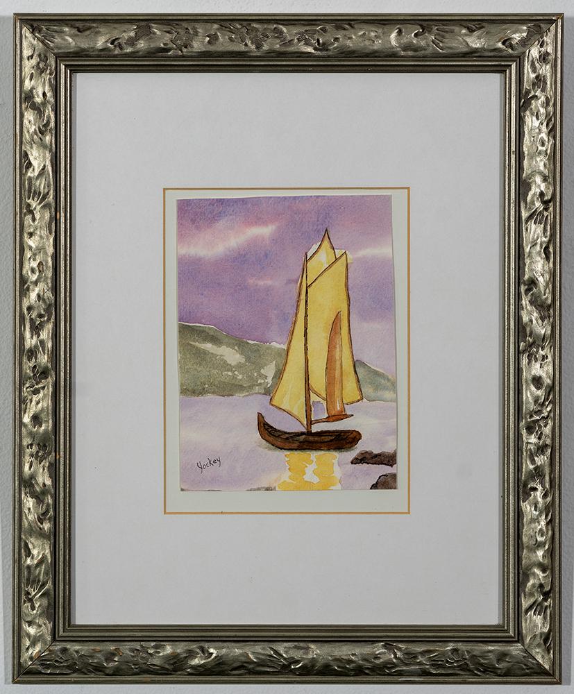 PAT YOCKEY - 'Safe Harbor' - Watercolor - 16.5 x 13.5 - $75