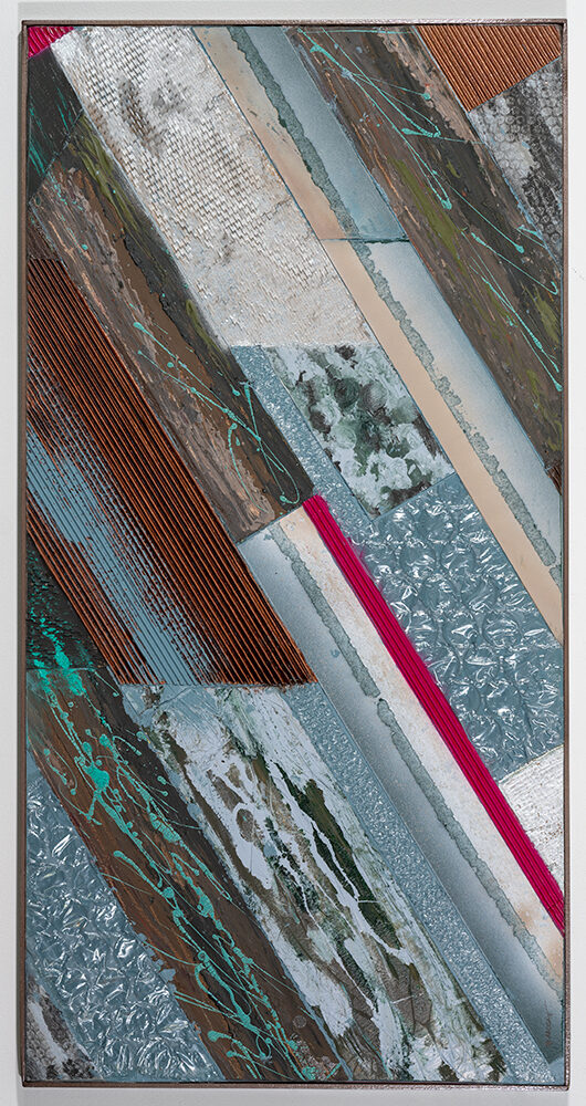 REBECCA HOUCK - 'Let's Recycle' - Collage - 47 x 24 - $500
