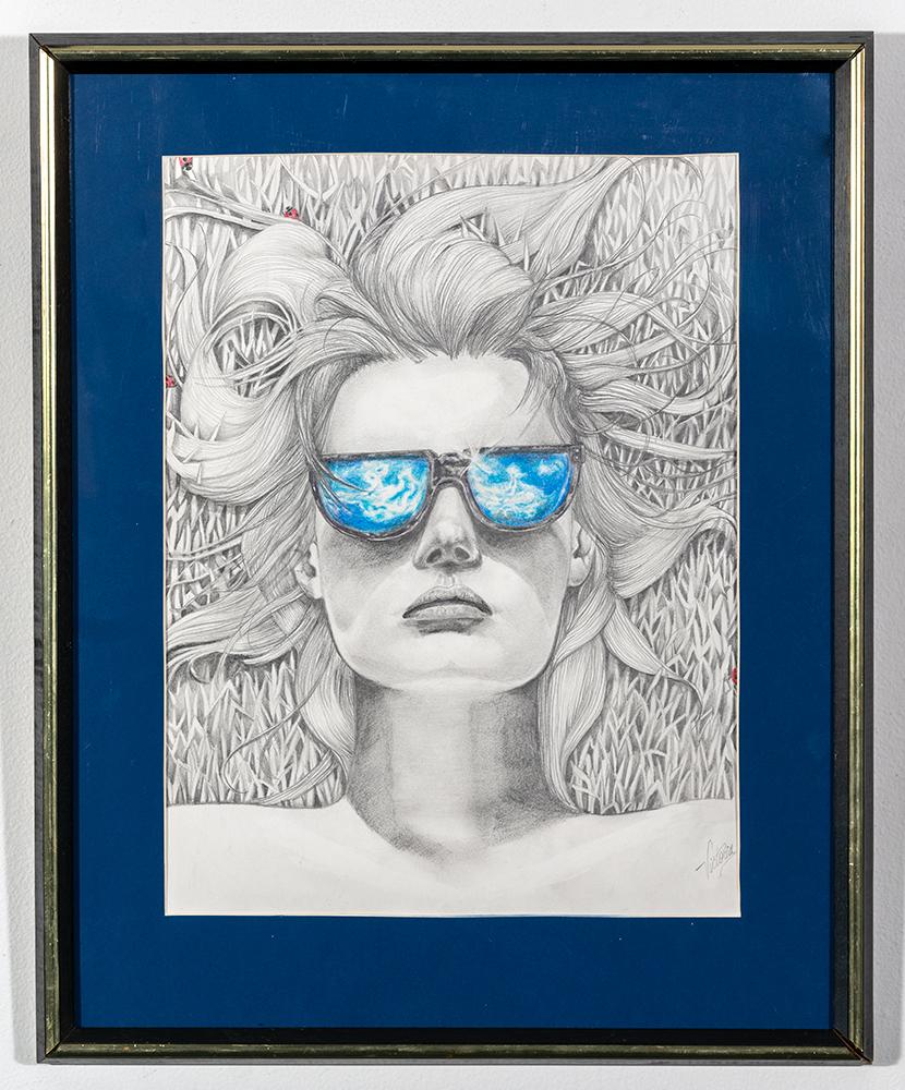 VICTORIA L. PARKER - 'Baby Blue' - Colored Pencil - 21.5 x 17.5 - $200