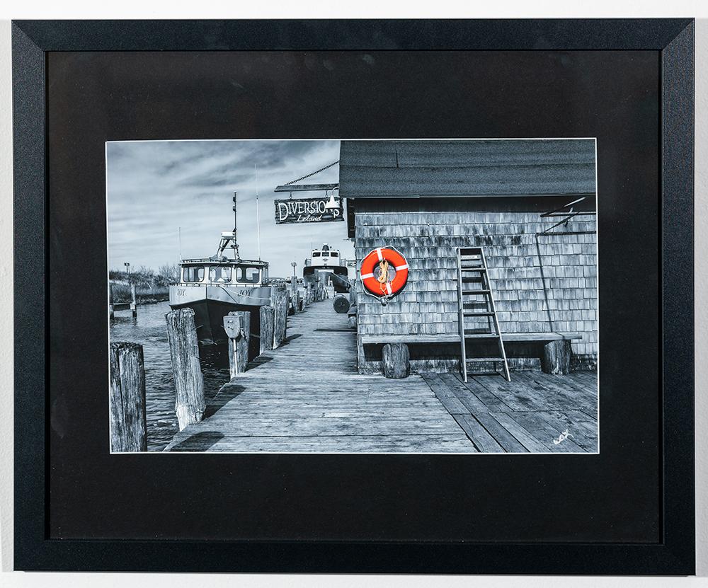 WILLIAM LAUDERBACH - 'Dock at Fishtown' - Photo - 17.5 x 22 - $95