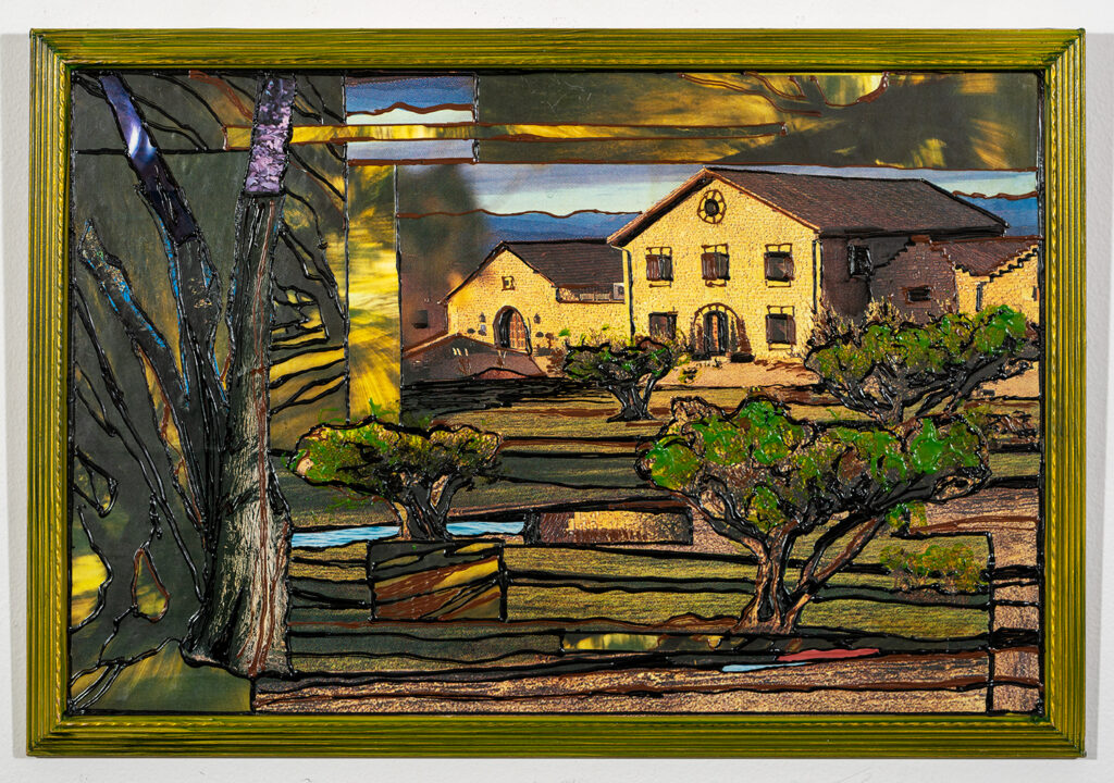 ALMA COOKE - Sunset at the Country House - Collage and Acrylic - 22.5x15.5 - $500