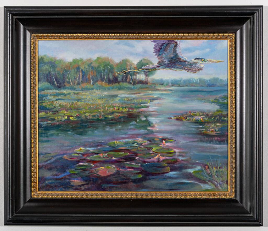 BARBARA PLEZIA - Water's Rising - Oil - 26.5x22.5 - $650