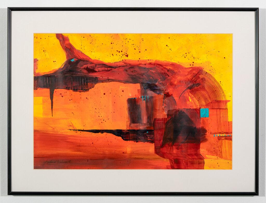 BARBARA WALWORTH - Bridigng the Gap - Fluid Acrylic - 24.13x18 - $450