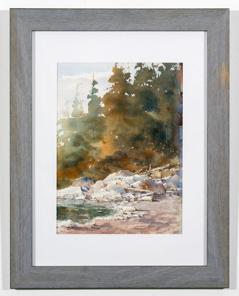 DJ CARMODY - Rocky Beach - Watercolor - 14.63x18.5 - $200