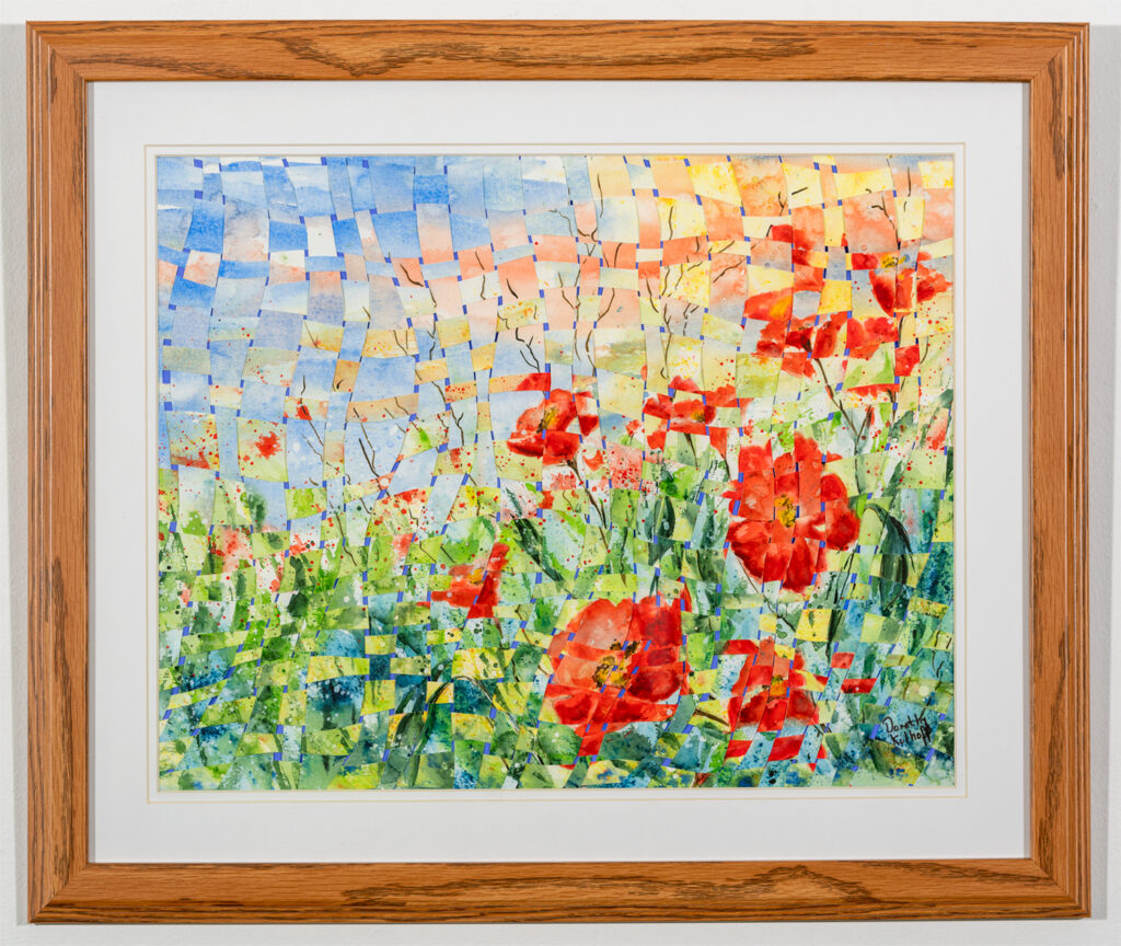 DOROTHY KOLHOFF - A Summer Afternoon - Watercolor (Woven) - 26.13x22.13 - $190