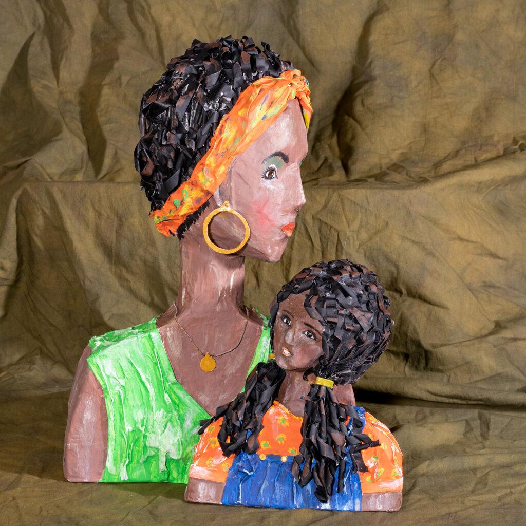 DOROTHY KOLHOFF - My Child - Paper Mache - 13.5x18x8 - $90