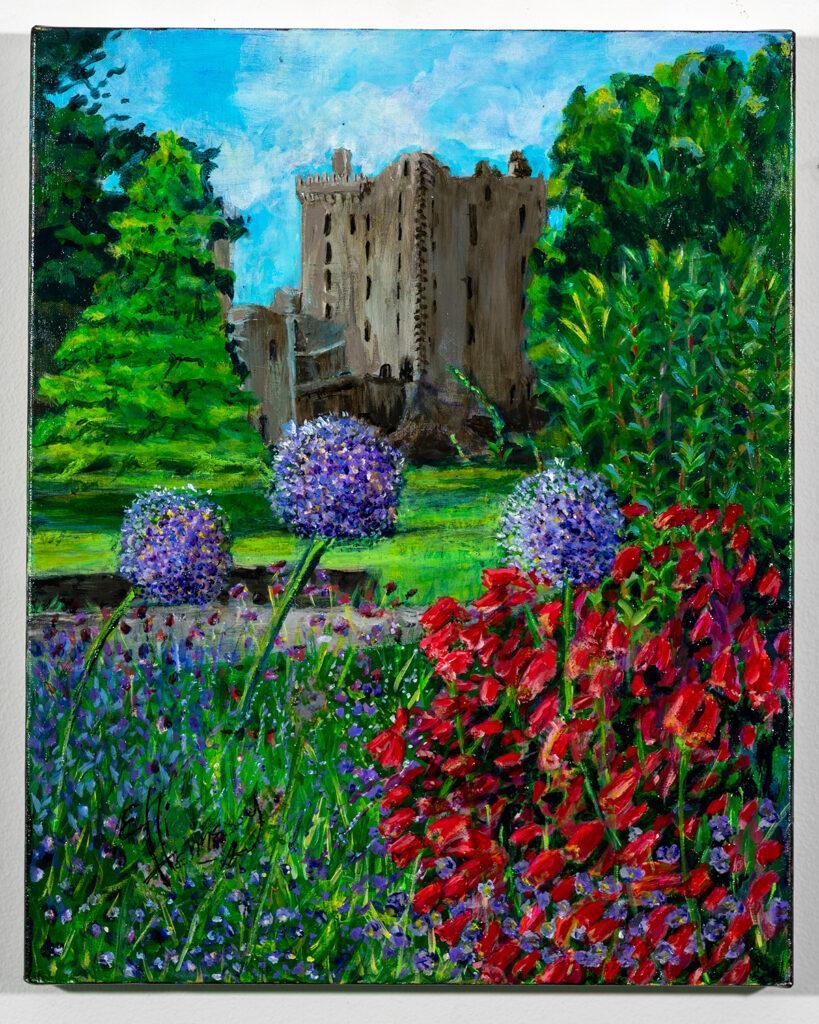 ELLI HENNESSY - Blarney Castle in the Morning - Acrylic - 15.88x20 - $500
