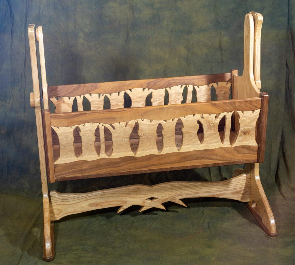 JIM CRISSMAN - Nellie's Cradle - Wood - 39.5x37.5x18 - NFS