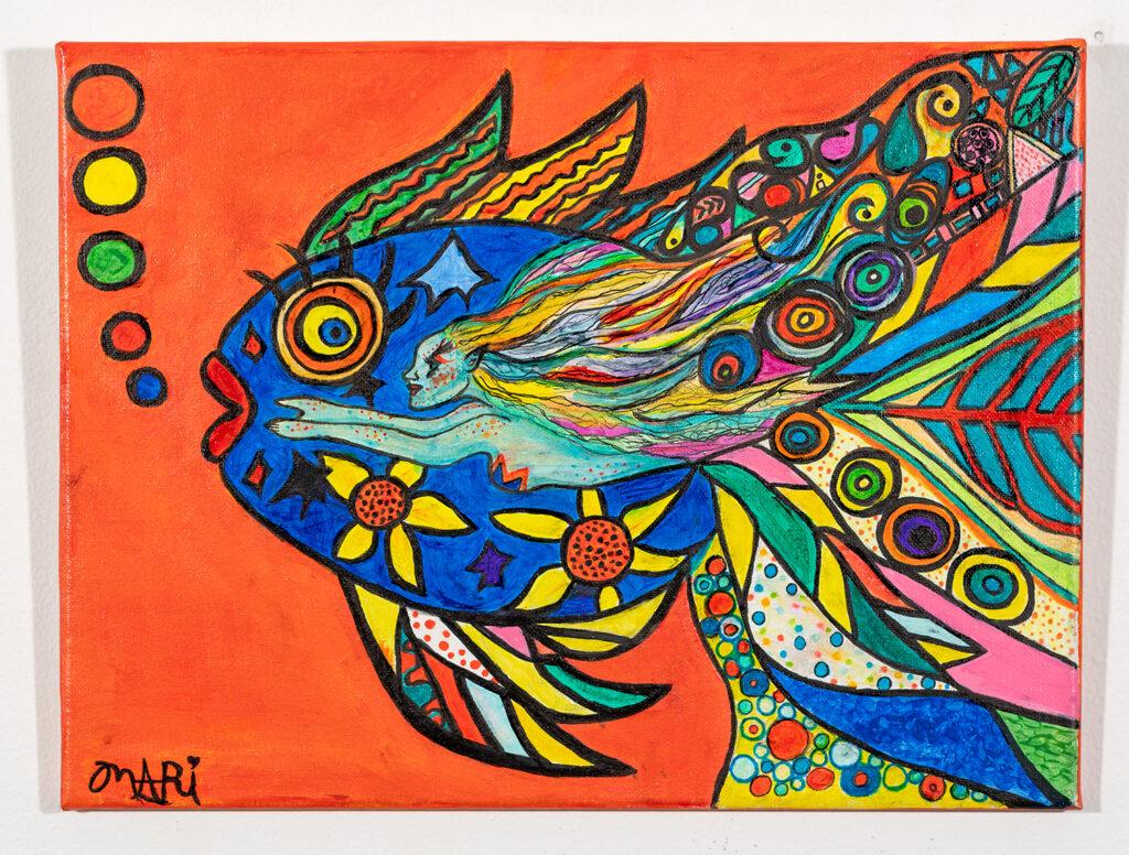 MARILU GONZALEZ - Pisces (1) - Acrylic - 16x12 - $225 set