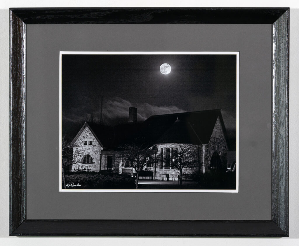 MARK WINSLOW - Moon Over the Depot - Photography - 22.13x18.13 - $200
