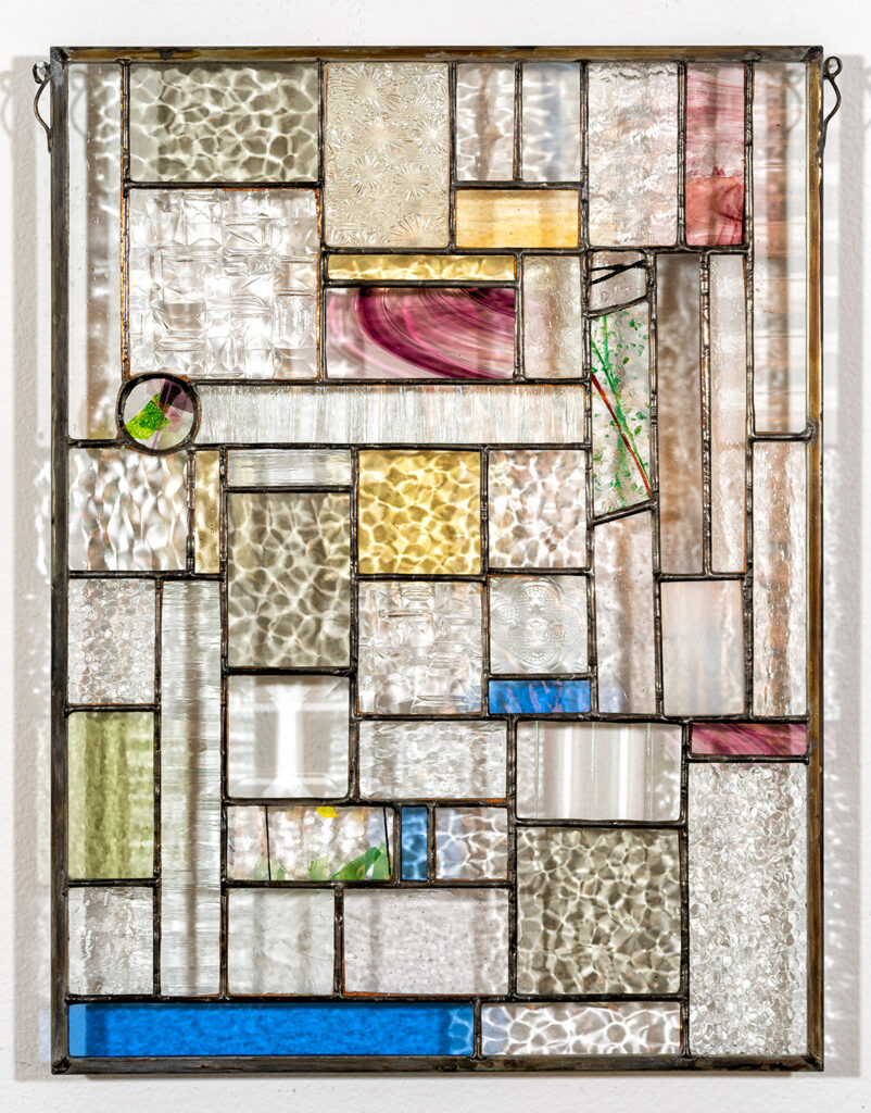 PAUL SCHMIDT - After the Flood-Reconstruction - Stained Glass - 11.75x15.75 - $179