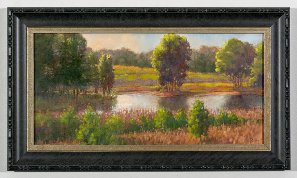 PRISCILLA OLSON - Clear Morning - Oil on Canvas Panel - 23.88x13.75 - $950