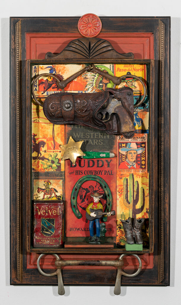 ROGER REICHMANN - I See by Your Outfit That You Are a Cowboy - Vintage Assemblage - 15.25x26.13 - $375