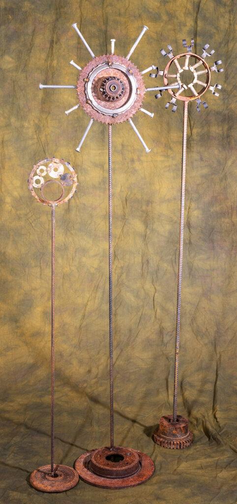 SUE BERGESON - Reclaimed Happiness - Scrap Metal Welding - 18x58.5x3 - $125 donation