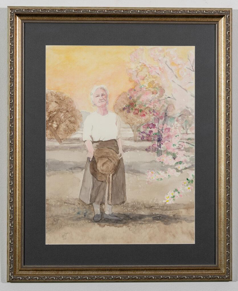 WALDA JUHL - My Grandmother's Hat - Watercolor - 18.13x22.25 - $185
